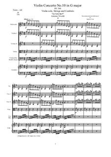 La Cetra (The Lyre). Twelve Violin Concertos, Op.9: No.10 Concerto in G Major – score and all parts, RV 300 by Антонио Вивальди