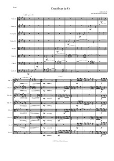 Crucifixus: For string octet (or string orchestra) by Антонио Лотти