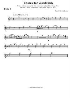 Chorale for Woodwinds: Chorale for Woodwinds by Meri Dolevski-Lewis