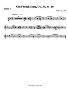 No.16 Старинная французская песенка: For mixed woodwinds by Петр Чайковский