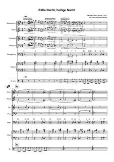 Тихая ночь (ноты для скачивания): For septet instruments by Франц Ксавьер Грубер