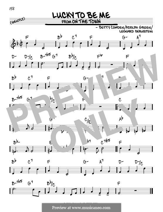 Lucky To Be Me: Для гитары by Леонард Бернстайн, Adolph Green