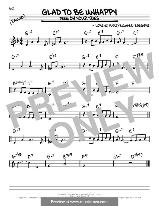 Glad to Be Unhappy: Для гитары by Richard Rodgers