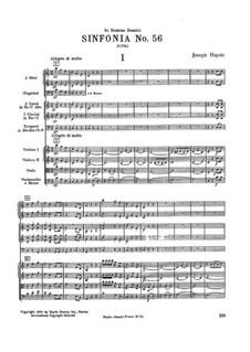 Симфония No.56 до мажор, Hob.I/56: Симфония No.56 до мажор by Йозеф Гайдн