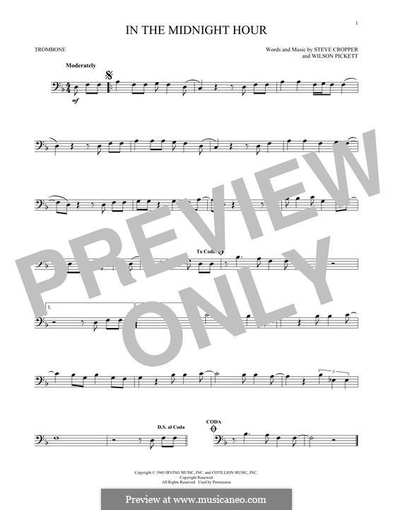 In the Midnight Hour: For trombone by Steve Cropper, Wilson Pickett