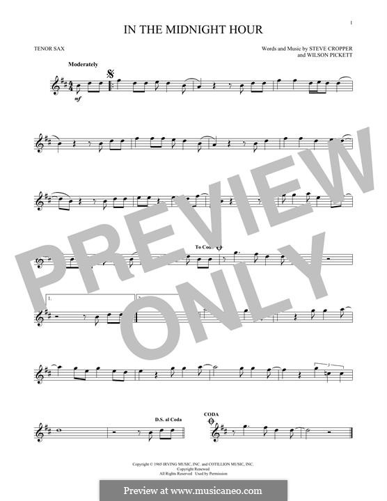 In the Midnight Hour: Для тенорового саксофона by Steve Cropper, Wilson Pickett