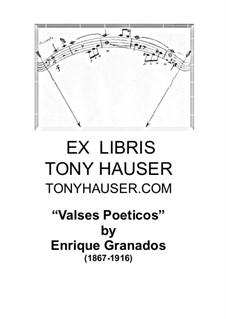 Valses Poeticos: Для гитары by Энрике Гранадос