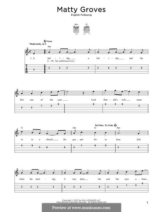 Matty Groves: Для гитары by folklore