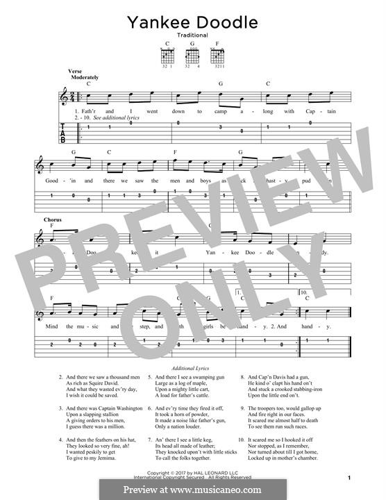 Yankee Doodle: Для гитары by folklore