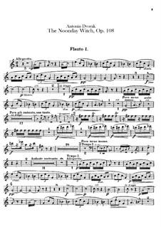 Полуденница, B.196 Op.108: Партии флейт by Антонин Дворжак