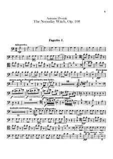 Полуденница, B.196 Op.108: Партии фаготов by Антонин Дворжак
