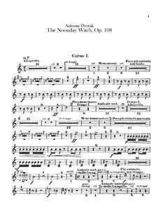 Полуденница, B.196 Op.108: Партии валторн by Антонин Дворжак