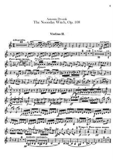 Полуденница, B.196 Op.108: Скрипка II by Антонин Дворжак