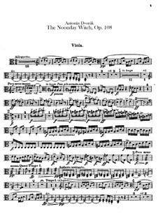 Полуденница, B.196 Op.108: Партия альта by Антонин Дворжак