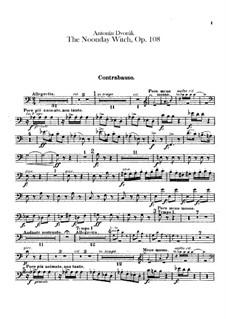 Полуденница, B.196 Op.108: Партия контрабаса by Антонин Дворжак