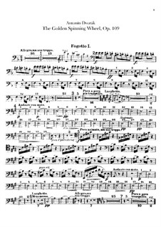 Золотая прялка, B.197 Op.109: Партии фагота и контрфагота by Антонин Дворжак