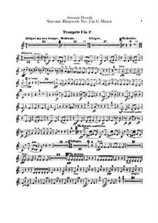 Рапсодия No.2 соль минор: Партии труб by Антонин Дворжак
