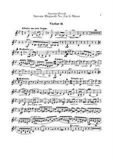 Рапсодия No.2 соль минор: Скрипка II by Антонин Дворжак