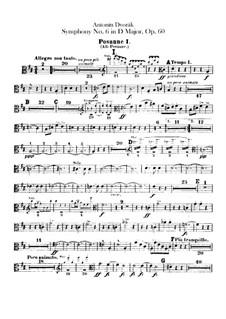 Симфония No.6 ре мажор, B.112 Op.60: Партии тромбонов и тубы by Антонин Дворжак