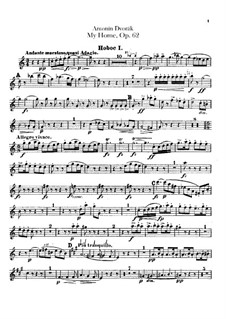 Моя Родина, B.125a Op.62: Партии гобоев by Антонин Дворжак