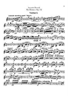 Моя Родина, B.125a Op.62: Скрипка I by Антонин Дворжак