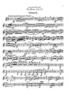 Моя Родина, B.125a Op.62: Скрипка II by Антонин Дворжак