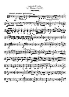 Моя Родина, B.125a Op.62: Партия альта by Антонин Дворжак