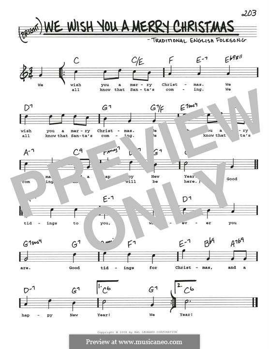 We Wish You a Merry Christmas (Printable Scores): Для гитары by folklore