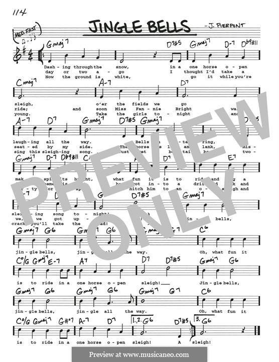 Jingle Bells (Printable scores): Для гитары by James Lord Pierpont