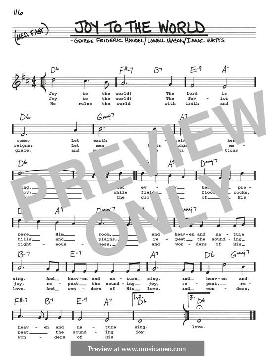 Joy to the World (Printable Scores): Для гитары by Георг Фридрих Гендель