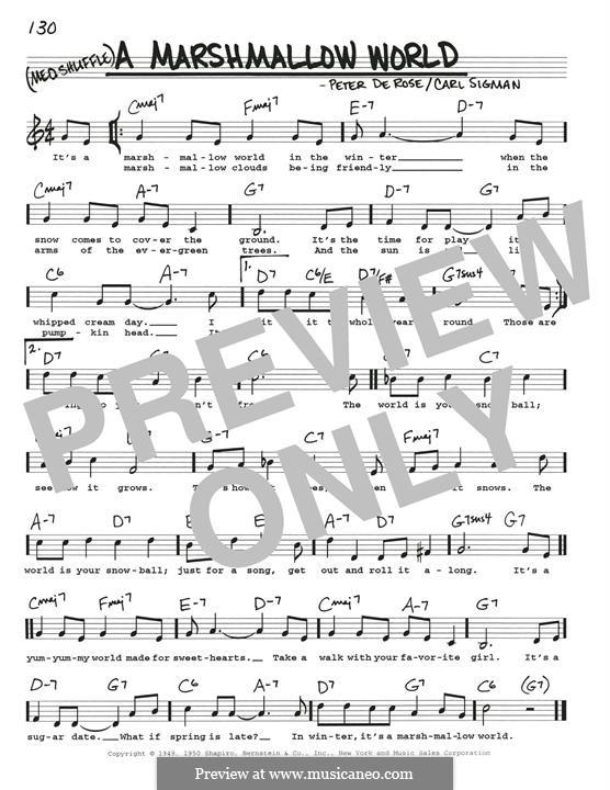 A Marshmallow World: Для гитары by Peter de Rose