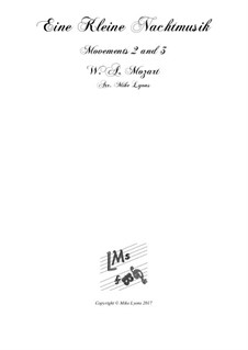 Все части: Movements 2nd. and 3rd, for brass sextet by Вольфганг Амадей Моцарт
