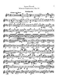 Скерцо каприччиозо, B.131 Op.66: Скрипка II by Антонин Дворжак