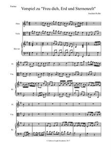 Vorspiel zu 'Freu dich, Erd und Sternenzelt': Für Flöte, Violine und Klavier by Joachim Roller