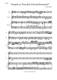 Vorspiel zu 'Freu dich, Erd und Sternenzelt': Für Flöte, Bratsche und Klavier by Joachim Roller