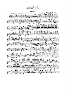 Гуситская увертюра, B.132 Op.67: Партии флейт by Антонин Дворжак