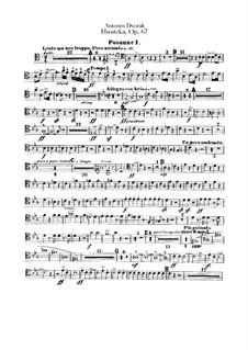 Гуситская увертюра, B.132 Op.67: Партии тромбонов и тубы by Антонин Дворжак