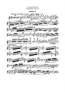 Гуситская увертюра, B.132 Op.67: Скрипка I by Антонин Дворжак