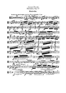 Гуситская увертюра, B.132 Op.67: Партия альта by Антонин Дворжак