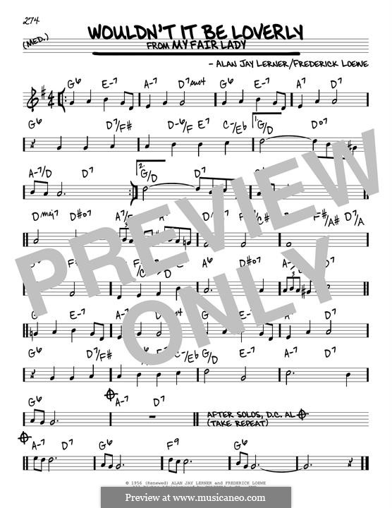 Wouldn't It Be Loverly (from My Fair Lady): Для гитары by Frederick Loewe