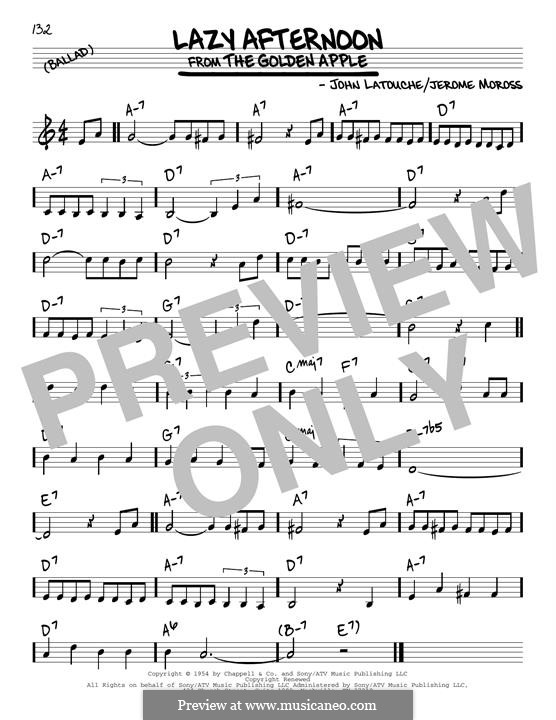 Lazy Afternoon (Barbra Streisand): Для гитары by Jerome Moross, John Latouche