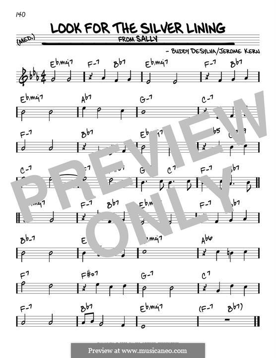 Look for the Silver Lining: Для гитары by Джером Керн