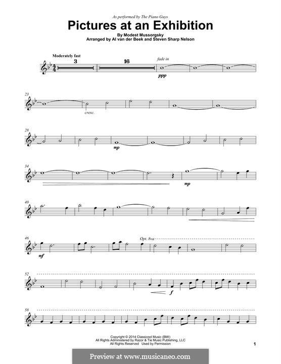 Прогулка I: For violin (The Piano Guys) by Модест Мусоргский