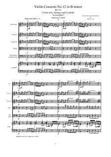 La Cetra (The Lyre). Twelve Violin Concertos, Op.9: No.12 Concerto in B minor – score, parts, RV 391 by Антонио Вивальди