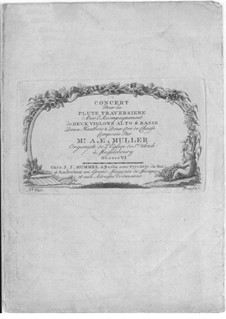 Концерт для флейты с оркестром соль мажор, Op.6: Концерт для флейты с оркестром соль мажор by Август Эбергард Мюллер