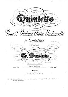 Струнный квинтет No.12 ля минор, Op.34: Партии by Жорж Онсло