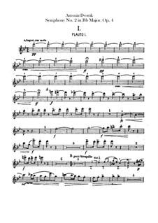 Симфония No.2 си-бемоль мажор, B.12 Op.4: Партии флейт by Антонин Дворжак