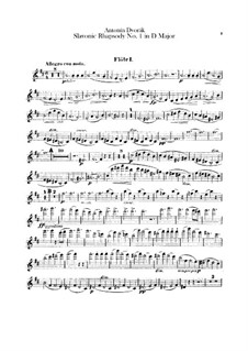 Рапсодия No.1 ре мажор: Партии флейт by Антонин Дворжак