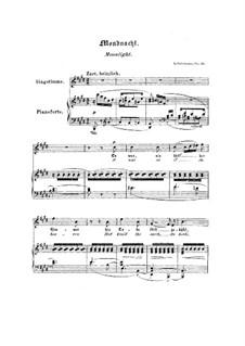 No.5 Лунная ночь: Клавир с вокальной партией (Английский и немецкий тексты) by Роберт Шуман