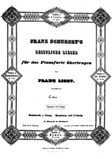 Транскрипции на темы песен Шуберта, S.562: No.3 Звезды by Франц Лист
